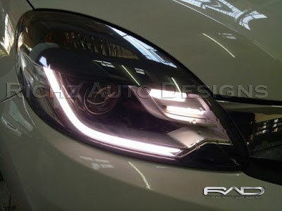 Custom Audiline + Smoke headlamp Honda mobilio RS