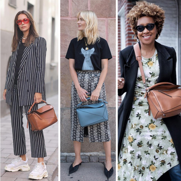 Loewe Puzzle bag outfits street style