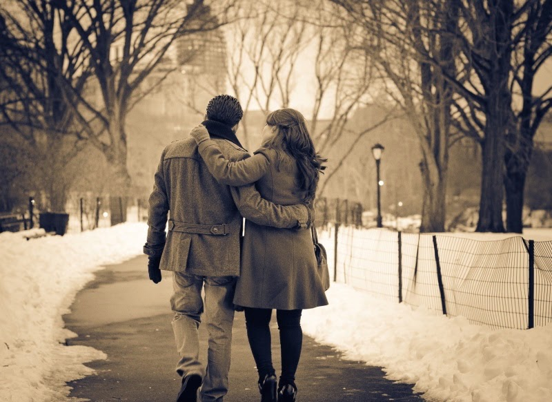 Romantic Couple Walk Wallpaper