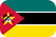 Rounded flag of Mozambique