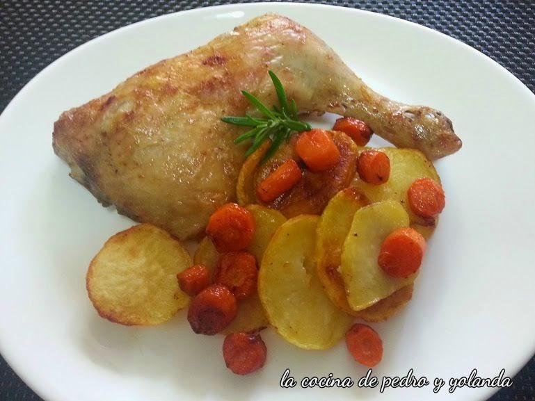 Cuartos traseros de pollo al horno - La Cocina de Pedro y Yolanda