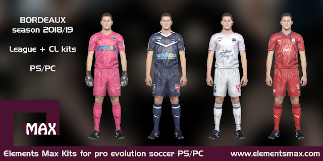 Bordeaux PES Kits 2018/19