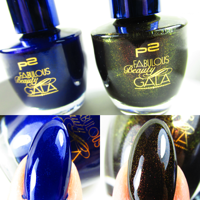 p2 Fabulous Beauty Gala Tragebilder : SWEET ADDICTION NAIL POLISH desirable blue und alluring black