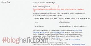 Mendapatkan CNAME Blogspot