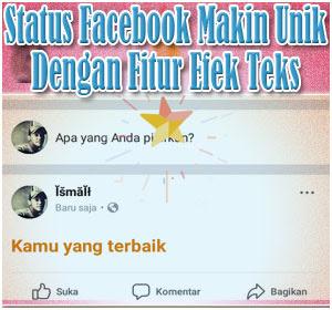 Status Facebook Makin Unik Dengan Fitur Efek Teks