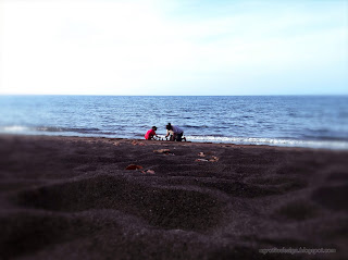 Family Vacation On The Beach At Umeanyar Village, Seririt, North Bali, Indonesia