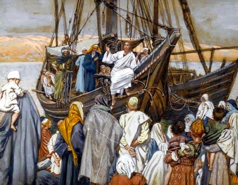 Jesús se retiró con sus discípulos a la orilla del mar, y lo siguió mucha gente de Galilea
