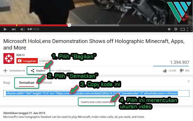 Cara Menyisipkan Video Pada Postingan Blog