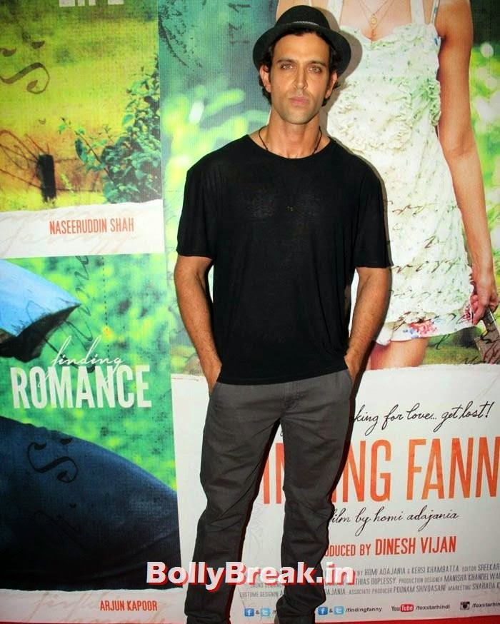 Hrithik Roshan, Deepika, arjun, Hrithik Pics from Finding Fanny Movie Screening