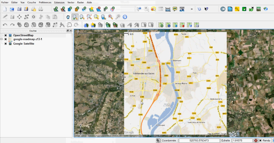 Google Earth, Open street Map, Google Maps to Qgis