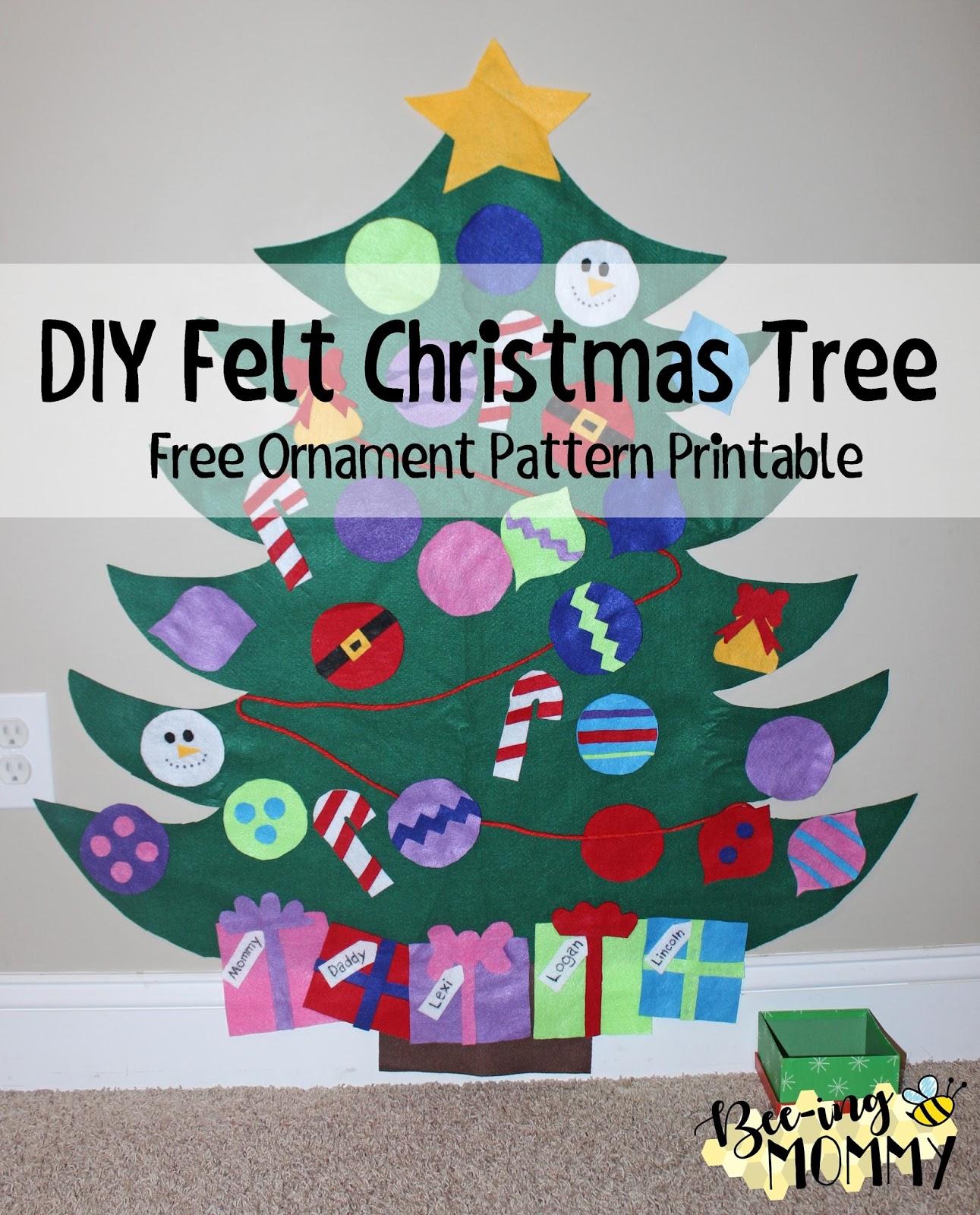 Bee-ing Mommy Blog: Felt Christmas Tree Tutorial