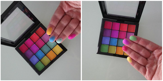 NYX ULTIMATE BRIGHTS SWATCHES