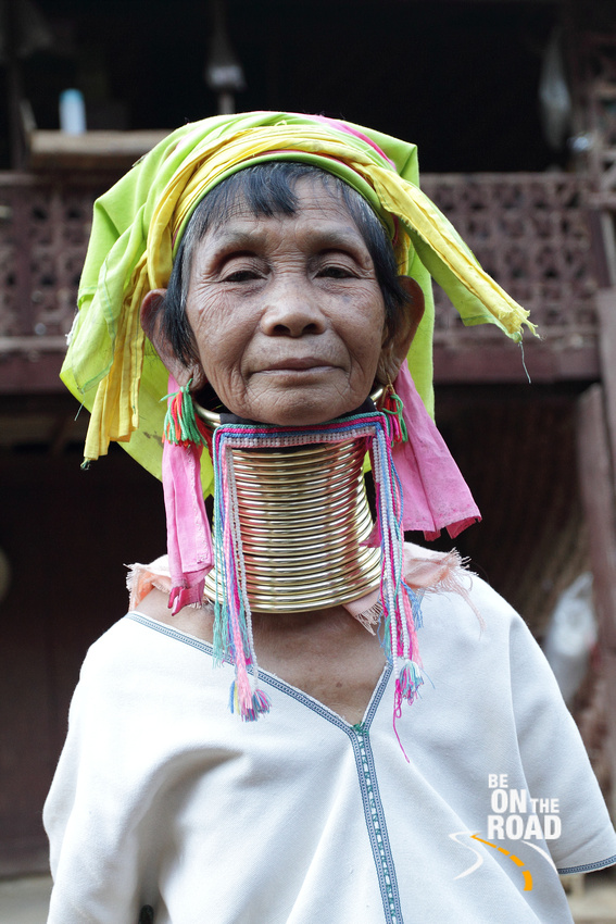 Long Necked Karen Tribal Woman from Mae Hong Son, Thailand