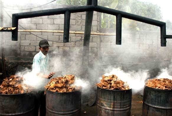 pembuatan arang batok kelapa