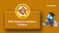 RPSC Research Assistant Syllabus