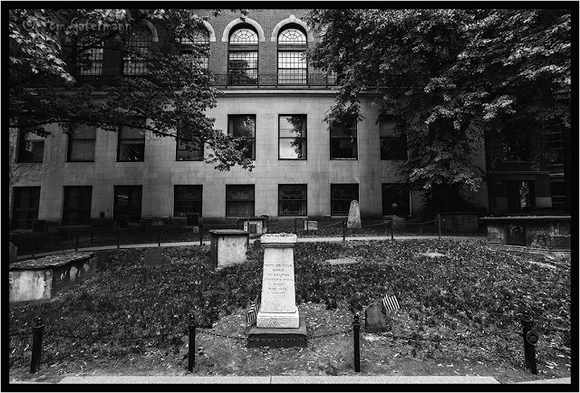 Paul Revere's Grave at the Granary Burying Grounds in Boston, MA