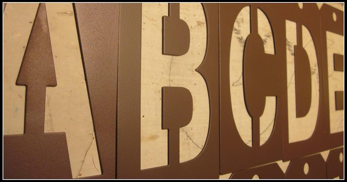 Metal Stencil Alphabet Homeroad