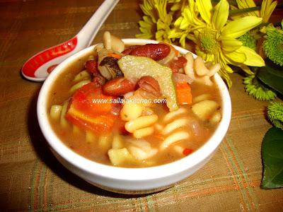 Minestrone Soup recipe / Easy Minestrone Soup Recipe / Vegetarian Minestrone Soup Recipe / Crock Pot Minestrone Soup Recipe