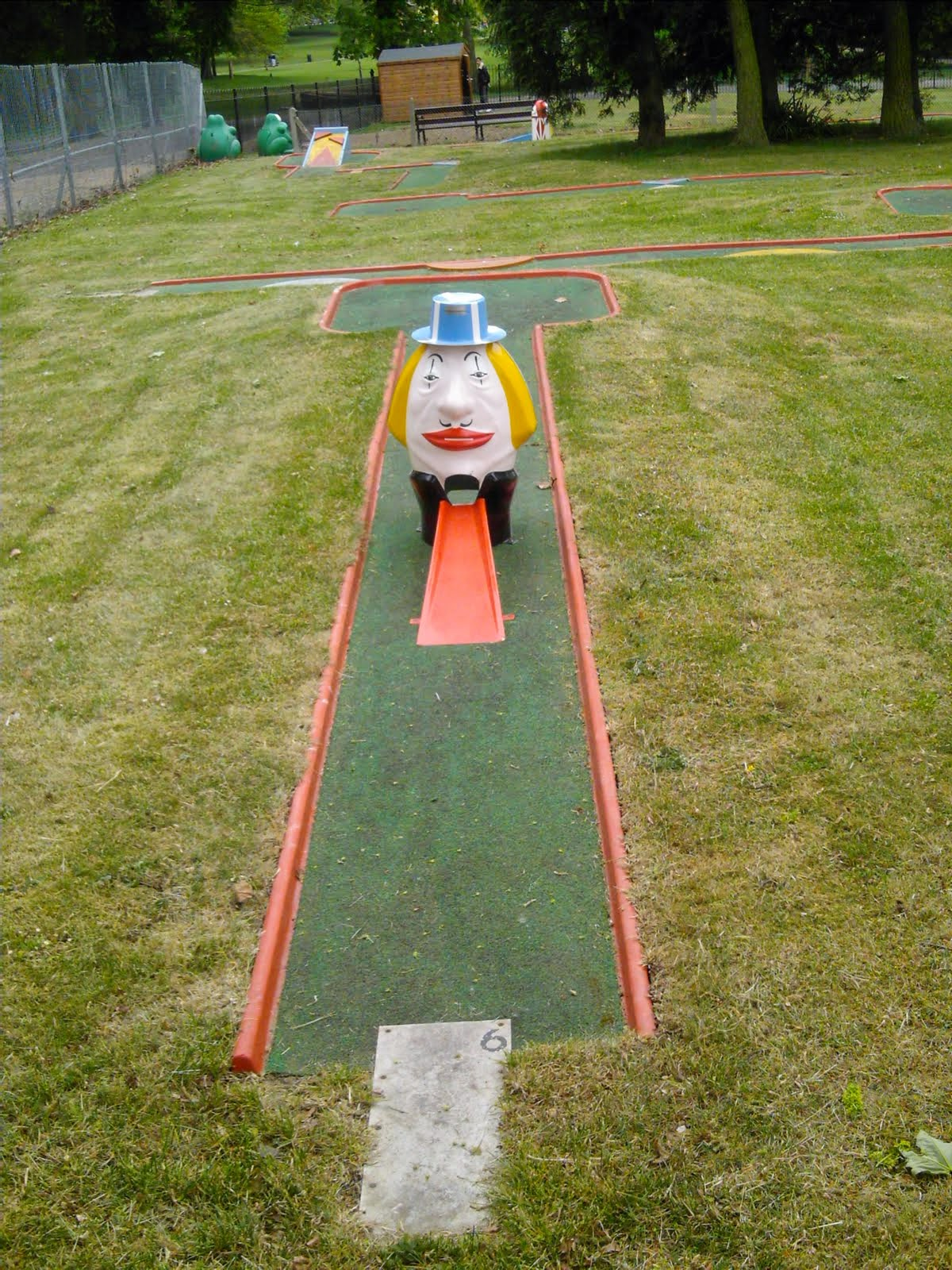 Hole 6 of the Crazy Golf course in Luton's Wardown Park in May 2007
