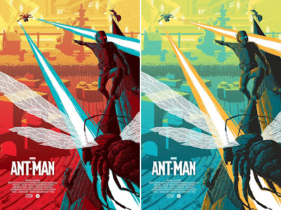 Ant-Man Marvel Screen Print by Florey x Grey Matter Art