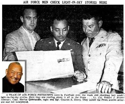 Sgt. Charles R. Sharp, Lt. Col. Robert Friend, Capt. Hector Quintanilla