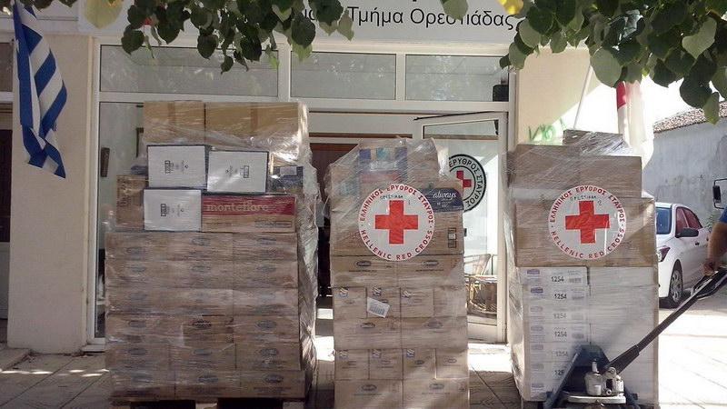 Ανθρωπιστική βοήθεια από τον Ελληνικό Ερυθρό Σταυρό σε 220 οικογένειες της Ορεστιάδας