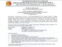 Hasil Seleksi Admin Penerimaan Tenaga Non PNS Pemerintah Kota Solok 2018