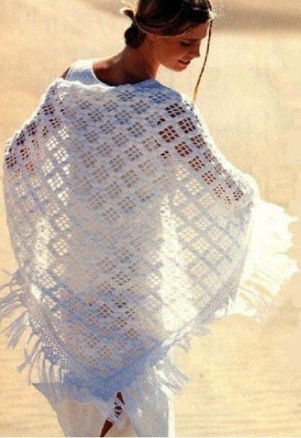 Patrón #1832: Maravilloso Chal a Crochet
