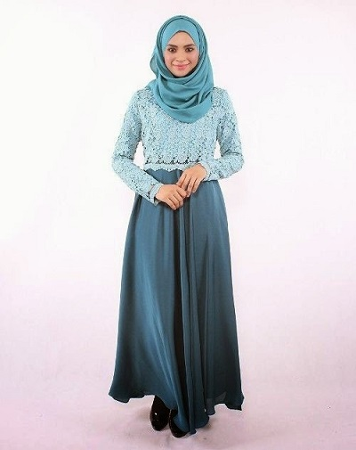 40 Pilihan Model Baju Brokat Kombinasi Satin Glamor 2019 Model