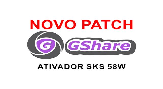 GSHARE NOVA ATUALIZAÇÃO PATCH KEYS 58W - 28/09/2017
