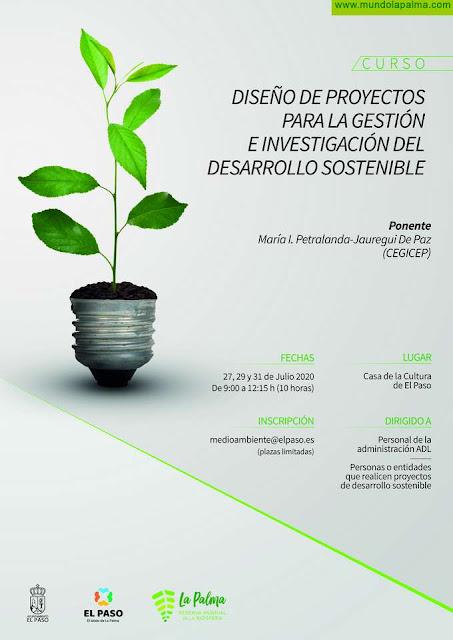 El Paso lanza un curso de diseño de proyectos para la gestión e investigación del desarrollo sostenible