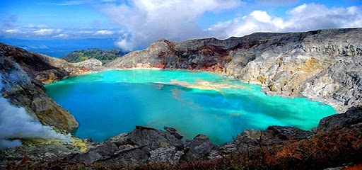 Ijen Crater a Volcanic Tourism Attraction in East Java, Indonesia