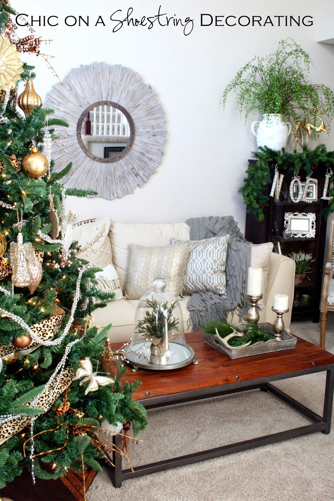 Chic on a Shoestring Decorating: Christmas Home Tour Part 1, The ...