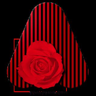 Abecedario en Rayas Rojas y Negras con Rosa.