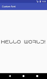 screenshot of custom font