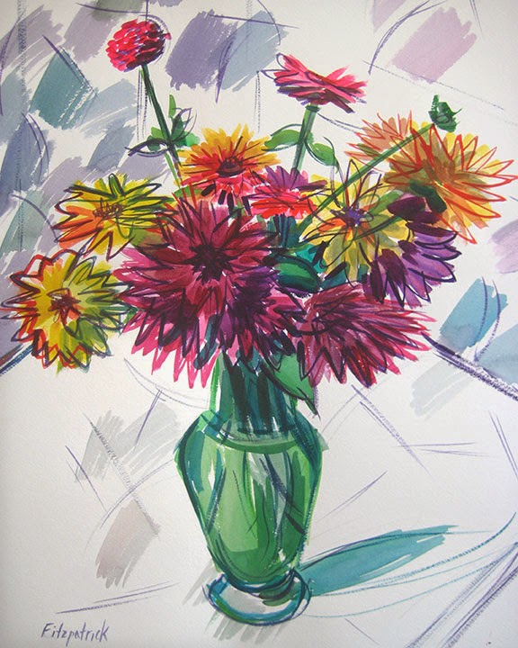 Dark Dahlias by Char Fitzpatrick