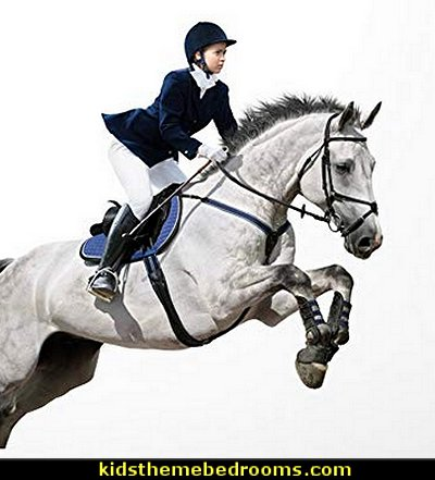 Equestrian Jumper Wall Decal Peel and Stick Graphic