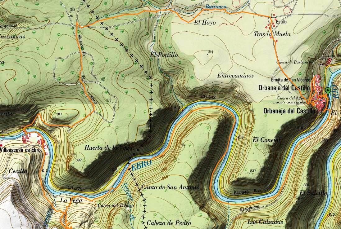 Orbaneja Del Castillo Mapa.Tierras De Burgos Ruta De Senderismo En Torno A Orbaneja