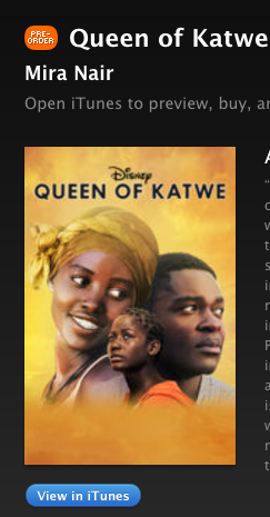 Queen of Katwe is out!