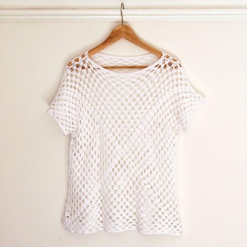 Granny Square Crochet Top - Free Pattern