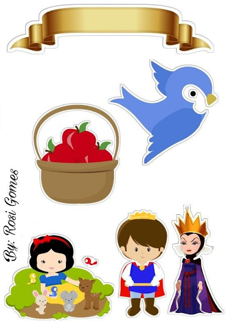 Snow White Baby Free Printable Cake Toppers.