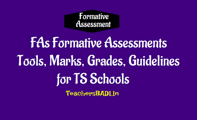 Fas,formative assessment i,ii,iii,iv,tools,marks,grades, guidelines,ts schools,children performance,cce,fa1,fa2,fa3,fa4,unit test,marks,percentage, grades
