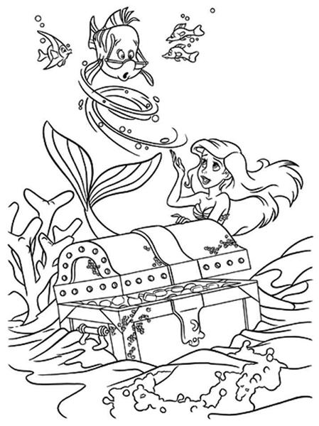 Princess Ariel Little Mermaid Coloring Pages