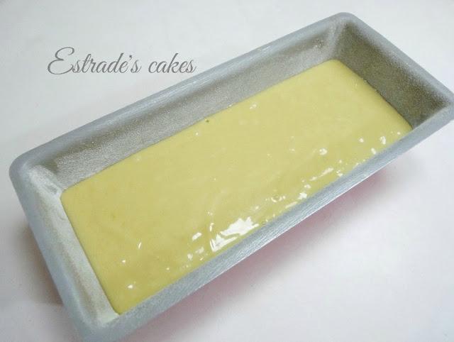 receta de bizcocho de yogur - crudo