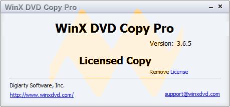 WinX DVD Copy Pro 3.6.5