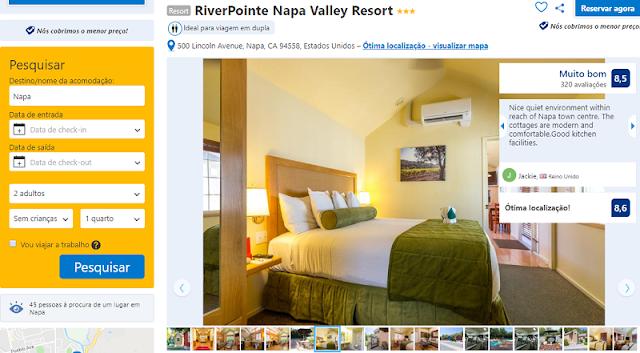 Estadia no Hotel RiverPointe Napa Valley Resort em Napa Valley