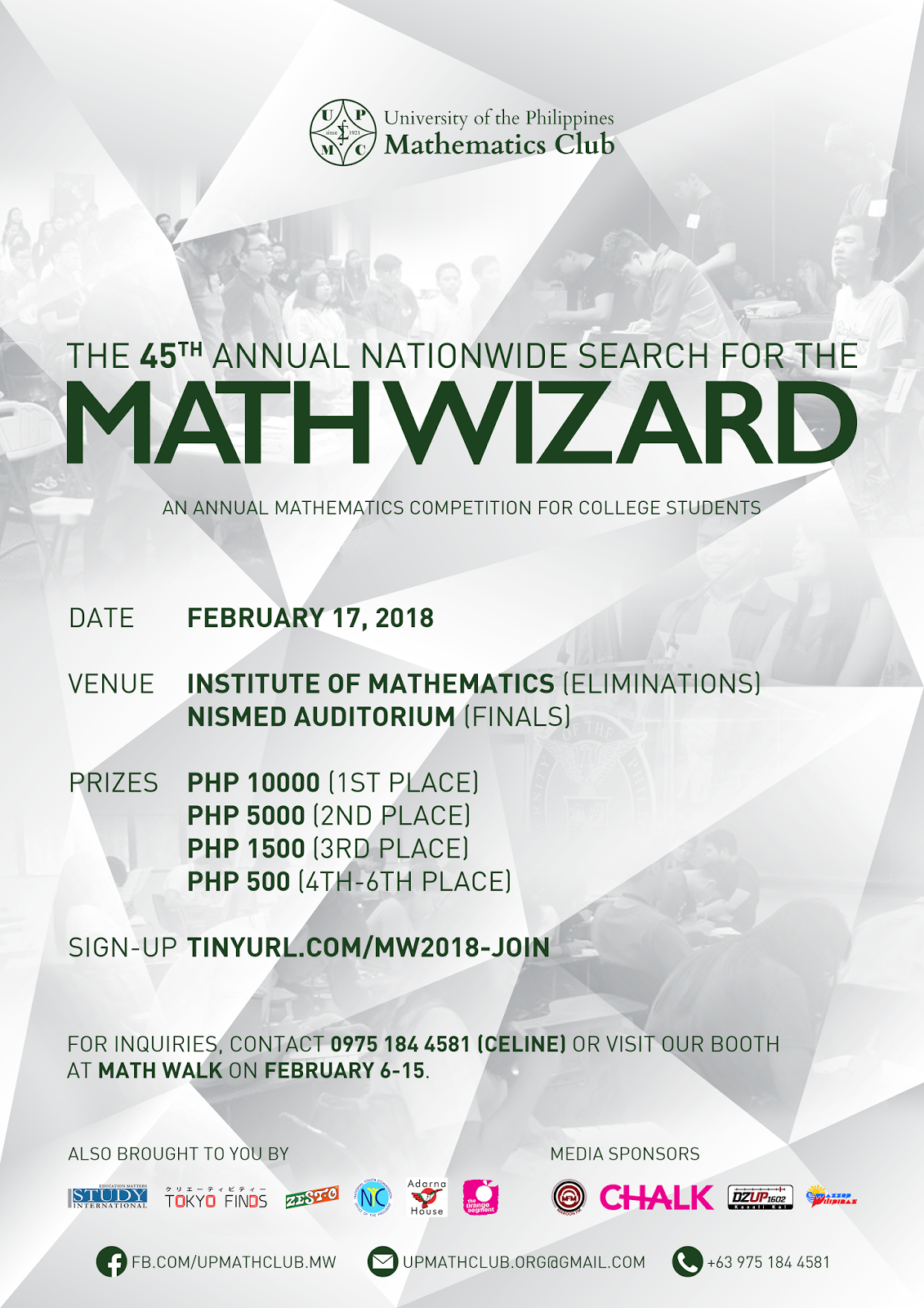 UP Math Club to Hold the 45th Annual Nationwide Search fir Math ...