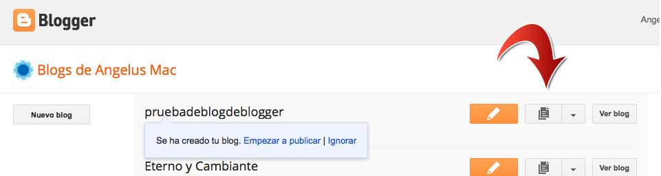 Edita tu blog