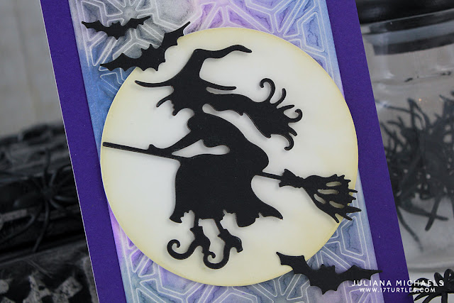 Detail image - Halloween Witch Card by Juliana Michaels featuring Spellbinders Witch On A Broom Die