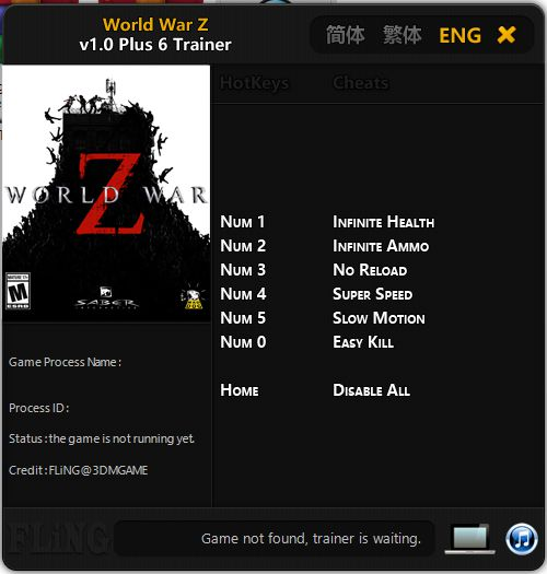 Cheat Trainer Game World War Z PC